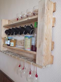 Kitchen pallet shelf 2