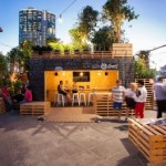 Café in Melbourne made with pallets