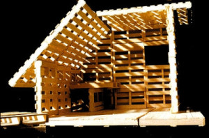 pallet house 300x198 Pallet house or shelter for refugies