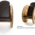 Build an armchair with a wooden cable reel