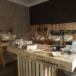 Little store decorated and furnished with DIY pallet furniture