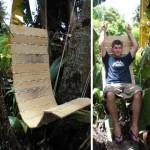 Hanging pallet Hammock for the summer