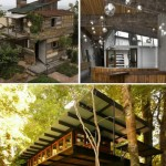Houses made of recycled wooden pallets