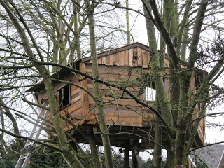 pallet tree house 11 Pallet tree house for our children