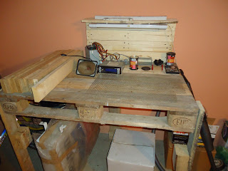 work table pallets 6 Make a workbench for your workshop step by step