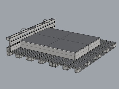 3D project of a simple bed design and its result_2