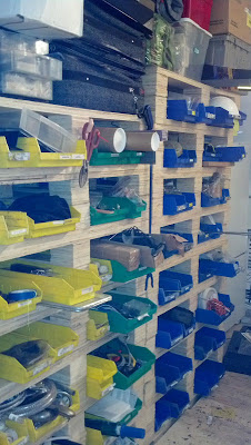 An easy to do shelf to organize your garage