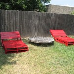 Build a sun lounger (chaise long) for your garden with pallets