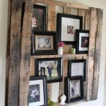 DIY Pallet shelf for putting pictures and other small decorative items