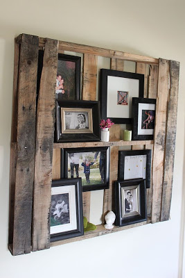 DIY Pallet shelf to put pictures and other small decorative items