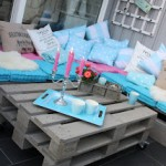 DIY pallet furniture lounge to put on our outdoor patio