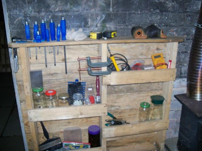 Functional shelf for your garage made of pallets