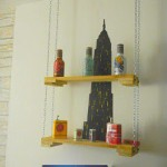 Hanging shelf made with pallets