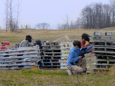 Make a paintball court with some recycled pallets