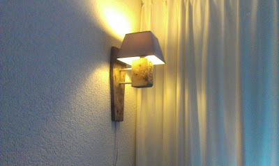 Nice lamp made with the rests of a recycled pallet