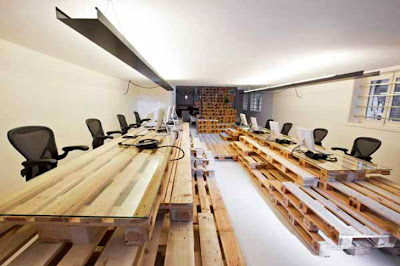 Office fully furnished with super-economical and ecological furniture
