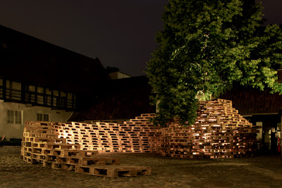 Pavilion made of pallets ​​by the students of the Aarhus School of Architecture_2