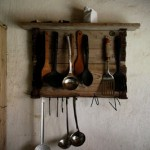 Rustic hanger for your kitchen utensils