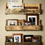 Rustic little shelves made of recycled wooden pallets