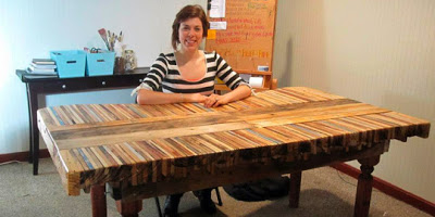 Table made with pallet boards12