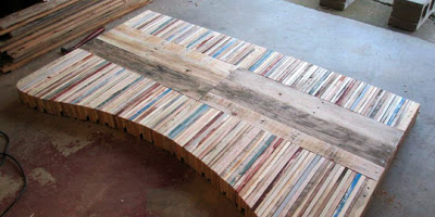 Table made with pallet boards9