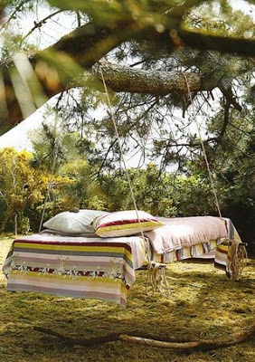 The most original furniture the swinging bed