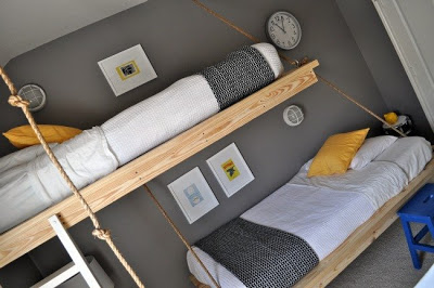 hanging bunk beds made ​​with pallets 2 Hanging bunk beds made ​​with pallets