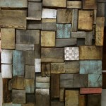 Piece of art made of recycled wooden pallets