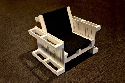 Armchairs built with wooden pallets