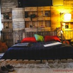 Cheap children's bedroom made with pallets