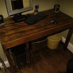 Classic desktop PC made with wooden pallets