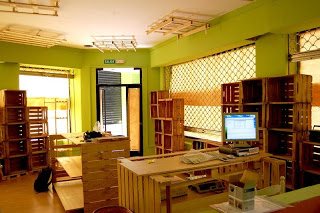 Eco shop all furnished with furniture made of pallets