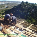 House made with pallets in Chile