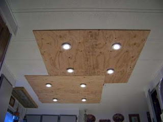 Lighting in a kitchen using wooden pallet boards3