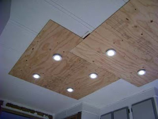 Lighting in a kitchen using wooden pallet boards4