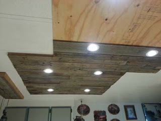 Lighting in a kitchen using wooden pallet boards8