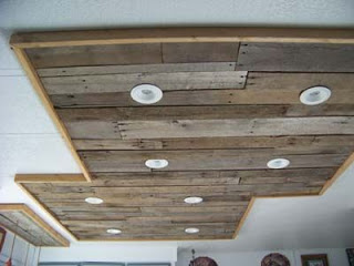 Lighting in a kitchen using wooden pallet boards9