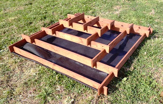 Planter pyramid made with pallets for your garden