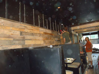 Restaurant interior furniture made from pallets4