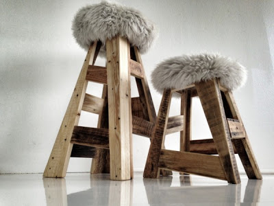 Stool design made ​​with pallets