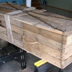 Lowcost Coffin made of wooden pallets