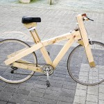 A bike made of wooden pallets!