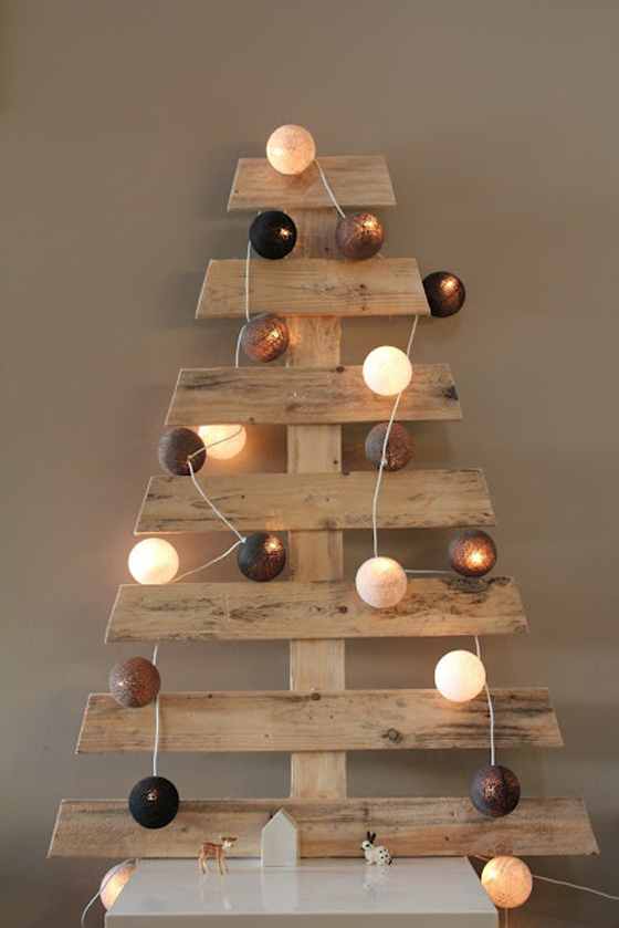 arbol de navidad con palets Christmas trees made ​​with pallets