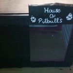 Double kennel made with wooden pallets
