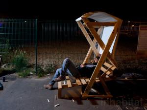 Guerrilla designers adorn the streets of Paris with furniture made from trash5