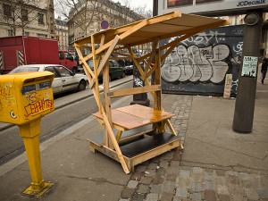 Guerrilla designers adorn the streets of Paris with furniture made from trash8