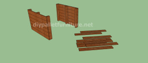 Project and plans to build a doghouse ​​with pallets