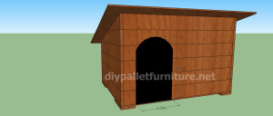 Project and plans to build a doghouse ​​with pallets10