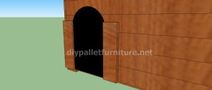 Project and plans to build a doghouse ​​with pallets11
