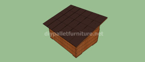 Project and plans to build a doghouse ​​with pallets12
